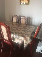 6 chair dinning table on sale