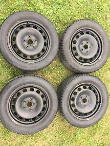 4 pneus d'hiver 205 55 R16 sur roues
