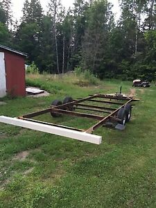 20' Tandem axle trailer frame with electric brakes