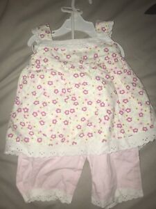 Girls two piece floral top and pants