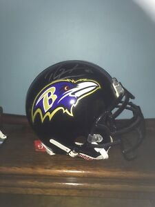 Official Baltimore Ravens Ray Lewis signed football helmet