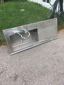 Stainless steel industrial sink
