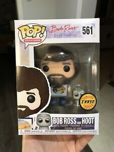 Funko POP Bob Ross and Hoot Chase