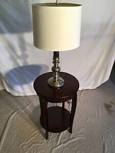 End table and lamp $10
