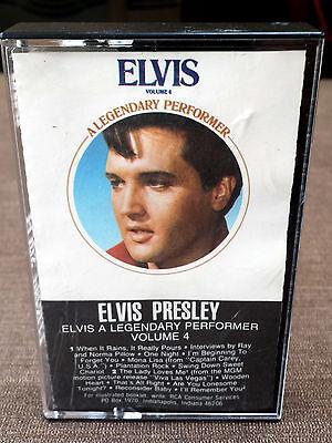 """1983 Cassette Tape Elvis """"A Legendary Performer Volume 4 TESTED GOOD"""