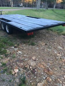 8 by 16 tandem flatbed trailer