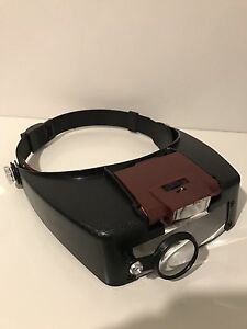 Headband LED Head Lamp Light Jeweler Magnifier Magnifying Glass Loup Rivervale Belmont Area Preview