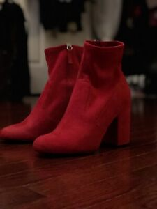 Mint Condition Red Steve Madden Booties Size 8