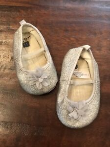 Toddler - girls silver shoes 9-12 months