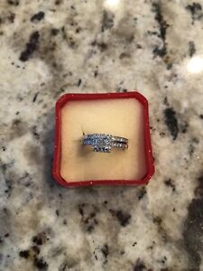 Engagement Ring Set with band $1100 or best offer