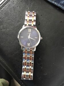 Men's Guess Watch Gold Silver and blue