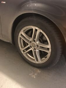 Audi A4 winter tires/mags 17 inch (Audi mags)
