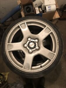 C5 corvette wheels with 5x100 adapters!