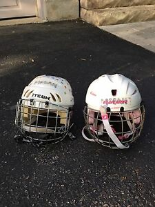 Girls hockey helmets