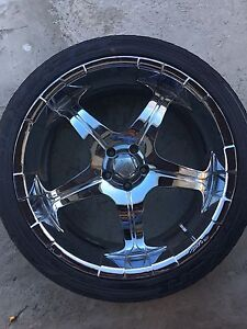 Core Racing Alloy Rims With Tires