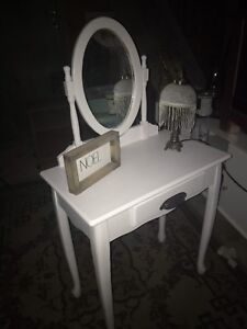 Vanity with custom upholstery of your CHOICE!