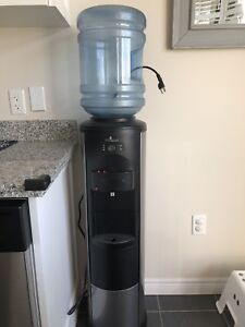 Stainless water dispenser hot&cold with mini fridge