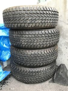 Toyo Observe G02 195/70/R14 winter tires on steel rims. Like New