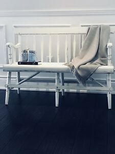 Shabby Chic Cottage Farmhouse Maple Hall Entryway Deacons Bench