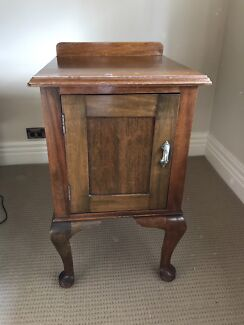 Antique bed side table