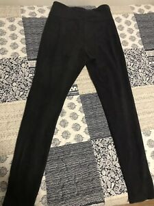black high waisted thick leggings