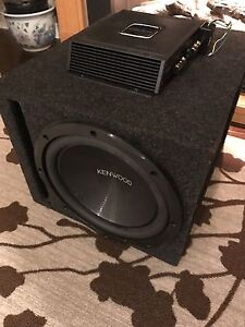 "^** KENWOOD 12"" 1200 WATT SUBWOOFER PORTED BOX CLARION AMP!!"