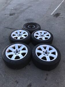 "17"" BMW Alloy Wheels w/ Tyres X4 + Spare Tyre (PCD: 5/120) 50% Tread Cleveland Redland Area Preview"