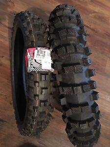 "2 brand new 14"" MX tires 60/100 14"" and 80/100 14"""