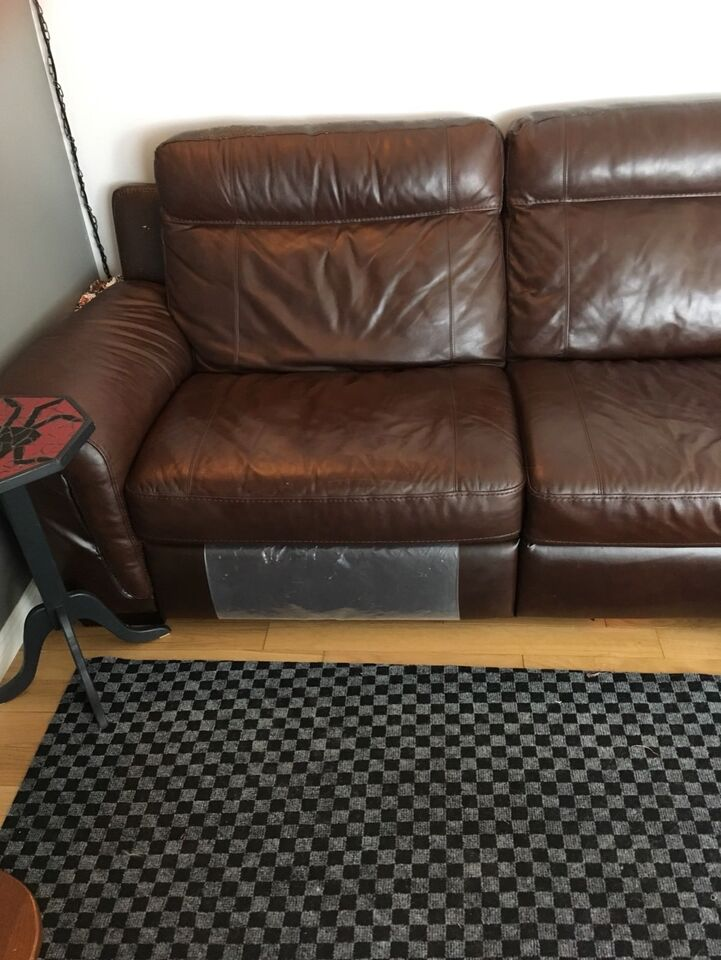 Description. Urgent!! Beautiful Rich Brown Sectional. This Is The Cindy  Crawford Seth ...