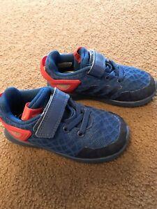 bb9bef4aca0acc Boys toddler Adidas Marvel Spider-Man shoes 8K US