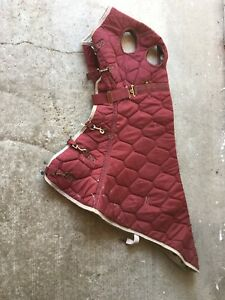 Quilted horse hood
