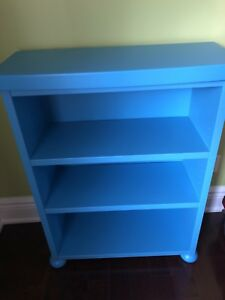 Blue 3 Shelf Bookcase