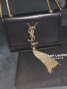 YSL KATE SMALL WITH TASSEL BLACK