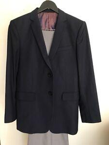 Navy blue suit, men's dress suit jacket, pants