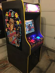 Multicade themed arcade cabinet with 1000s gamea