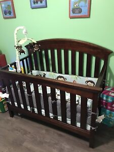 Crib, bumpers,mobile, change table