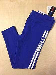 NWT Tommy Hilfiger Blue Leggings Size Large Womens Clothing Fall