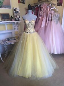 Yellow prom dress by MoriLee