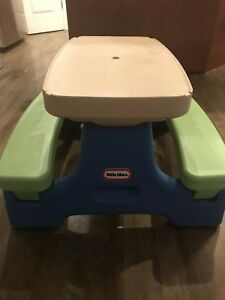 Little tikes Picnic Table with three toddlers toys