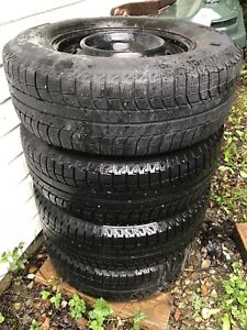 Michelin winter tires on rims for sale