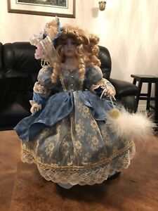 Variety of porcelain dolls from around the world