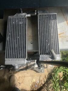 Aluminum rads off a 98 cr250