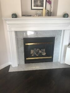 Fire place Mantle and marble surround all 4 sides
