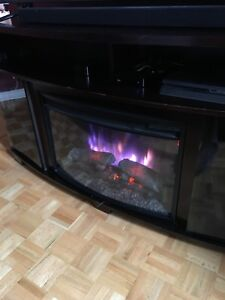Electric fireplace stand