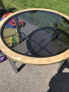 FREE round glass table