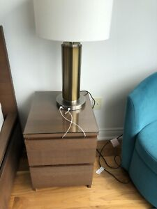 2 table lamps and a matching floor lamp from west elm US