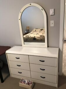 Mirrored Dresser and 2 Chest of Drawers
