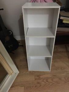 Small white bookshelf