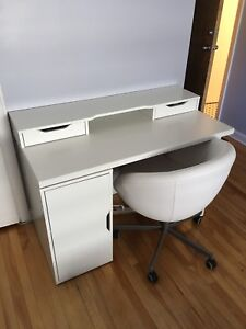 IKEA desk ($60) and chair ($40)