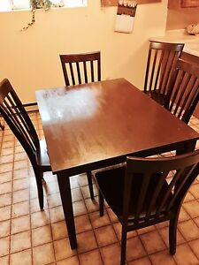Wood table & 5 chairs  $600 obo